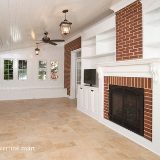Inspiration for a timeless family room remodel in Charlotte