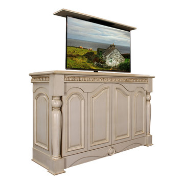 Country Cottage TV lift furniture cabinets, Cabinet Tronix TV lift cabinet
