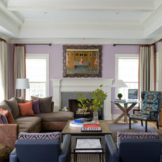 Contemporary Family Room by S. B. Long Interiors