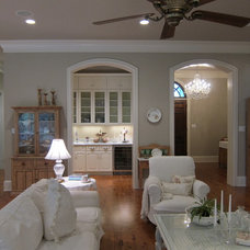 Traditional Family Room by Chris Whitty Construction, LLC