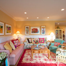 Eclectic Family Room by Renee Auge Interiors