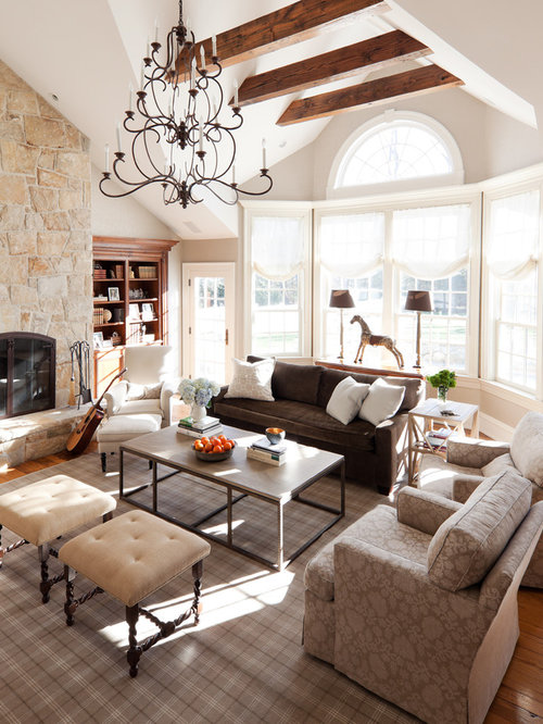 Family room chandelier houzz large elegant medium tone wood floor family room photo in new york with beige walls aloadofball Image collections