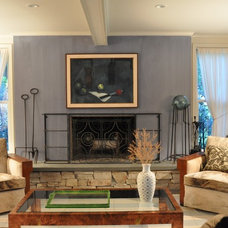 Midcentury Family Room by Irwin Feld Design