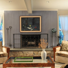 modern family room by Irwin Feld Design