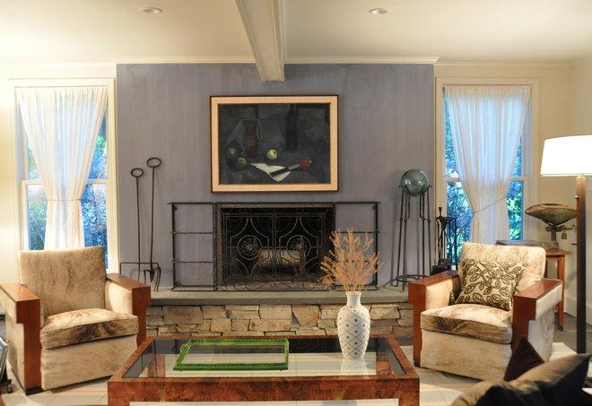 Midcentury Family Room by Irwin Feld Design