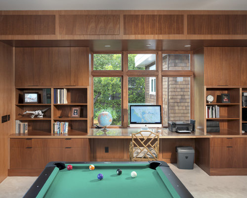 Example Of A Trendy Game Room Design In San Francisco