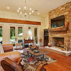 Traditional Family Room by Crescent Land Development LLC