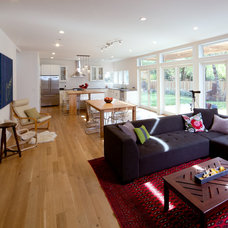 Contemporary Family Room by DRAW Architecture