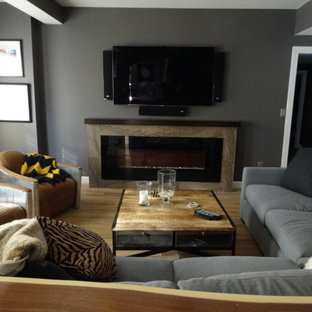 Cozy Contemporary Family Room/Bar