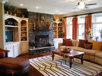Eclectic Family Room by Budget Blinds of Northern Utah