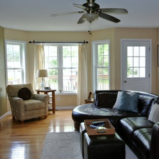 Traditional Family Room by Center Stage Home Designs