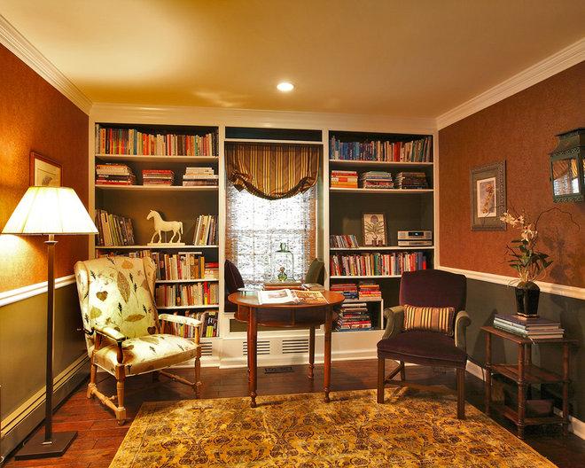 Eclectic Family Room by Olga Adler