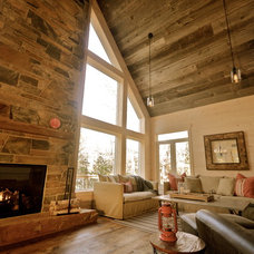 Rustic Family Room by StyleHaus Interiors