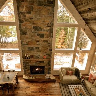 Family room - rustic family room idea in Ottawa