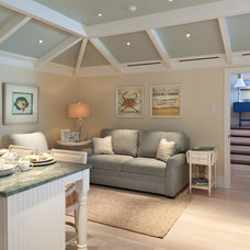 Beach Style Family Room by AlliKristé Custom Cabinetry and Kitchen Design