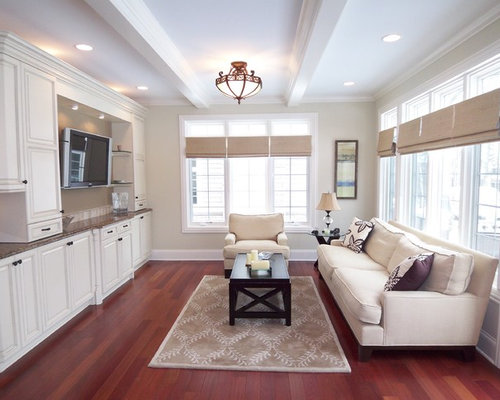 Transitional Family Room Photo In Chicago