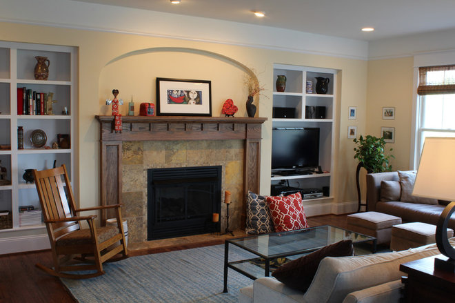 Traditional Family Room by Progress Street Builders
