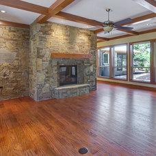 Craftsman Family Room by Michael Garabedian