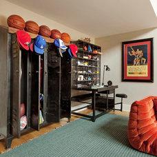 Eclectic Family Room by Katie Leede