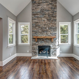 Family room - craftsman family room idea in Charlotte