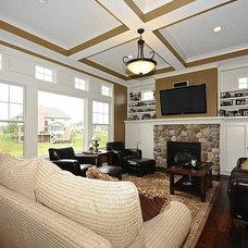 Craftsman Family Room by G&G Custom Homes, Inc
