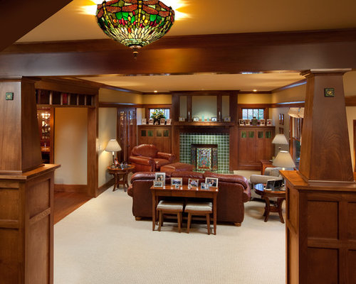 Craftsman interior houzz - Arts and crafts home interior design ...