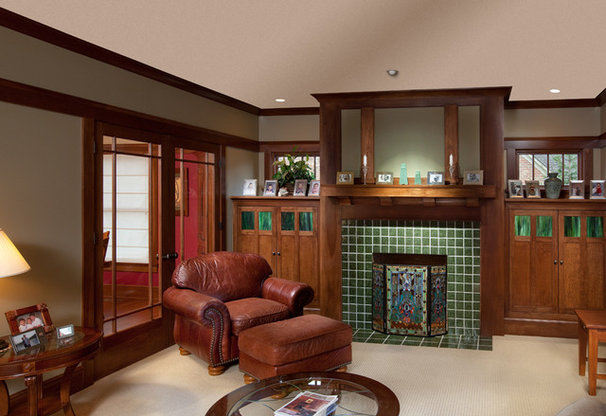 Craftsman Family Room by Andrew Melaragno