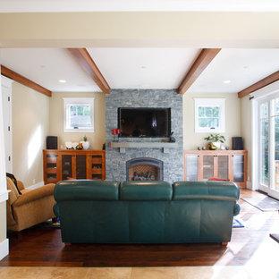 Ispirazione per un soggiorno american style