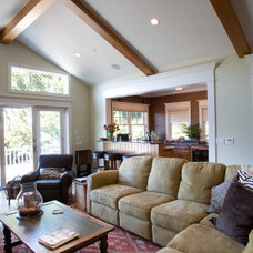 Craftsman Family Room by Allwood Construction Inc