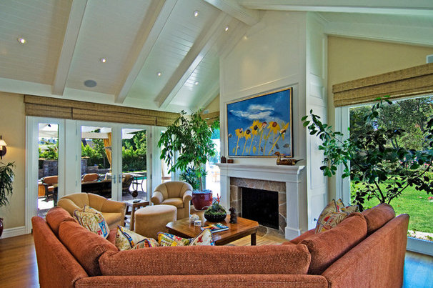 Craftsman Family Room by Structure Home