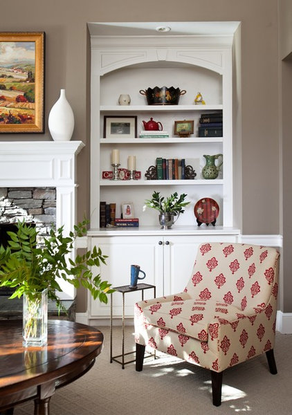 traditional family room by Rachel Oliver Decorative Design