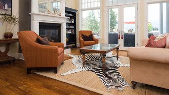 Craftsman Style Interior Design with Zebra Skin Rug