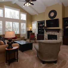 Traditional Family Room by Havenhill Homes, LLC