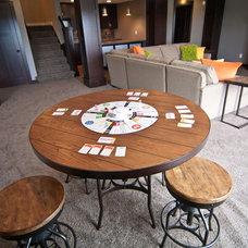 Craftsman Family Room by Troxel Custom Homes