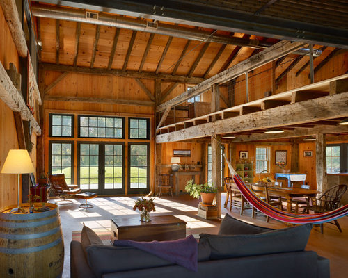 Indoor hammock home design ideas renovations photos for Converting a pole barn into living space