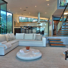 Contemporary Family Room by Switch Lighting & Design, LLC