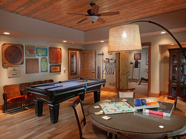 Traditional Basement by Modern Rustic Homes