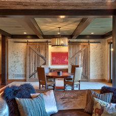 Rustic Living Room by Glennwood Custom Builders (NC)