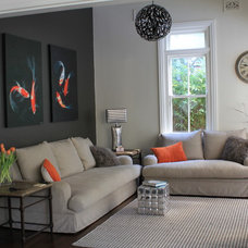 Contemporary Family Room by Anna Cottee Designs