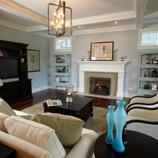 Transitional Family Room by Siena Custom Builders, Inc.