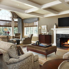 Traditional Family Room by Colleen Farrell Design, llc