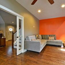 Modern Family Room by GreenTex Builders LLC