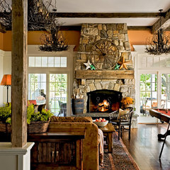 traditional family room by Crisp Architects