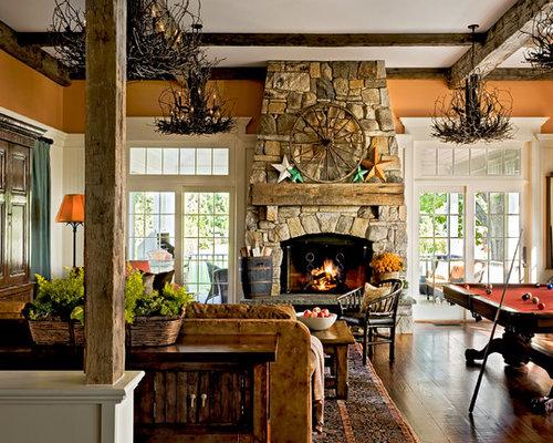 Wood Beam Fireplace Mantle Houzz