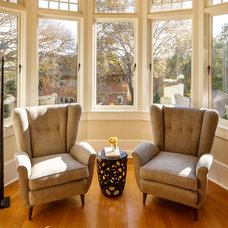 Transitional Family Room by Laura Martin Bovard