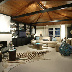 contemporary family room by Benning Design Associates