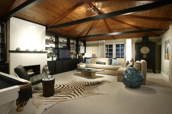 Contemporary Family Room by Benning Design Associates