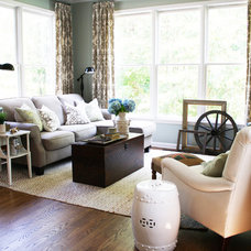 Traditional Family Room by Cristi Holcombe Interiors, LLC
