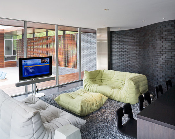 Contemporary Family Room by Hufft Projects