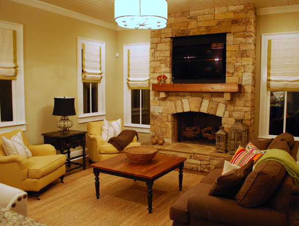 Traditional Family Room by Michelle Tumlin Design